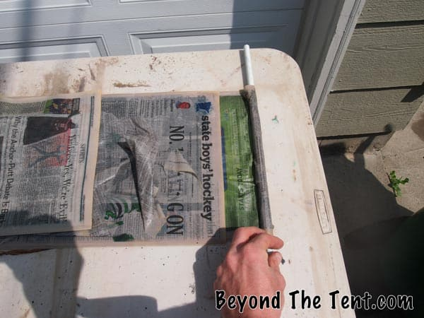 Rolling The Newspaper