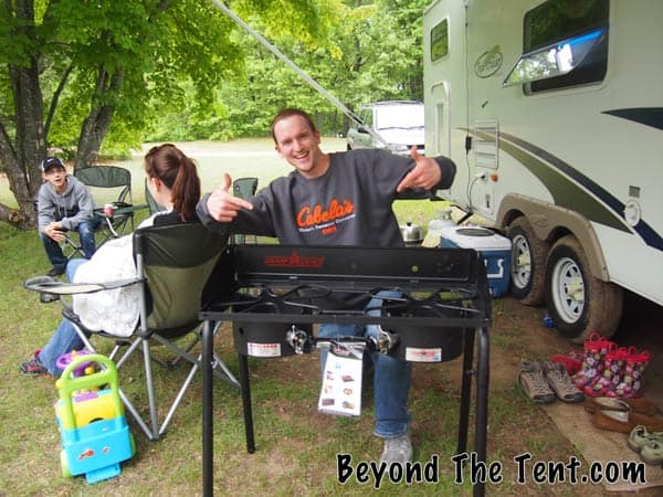 Camp Cooking Review: Camp Chef - Explorer Two Burner 1