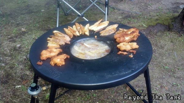 Frying Camp Food