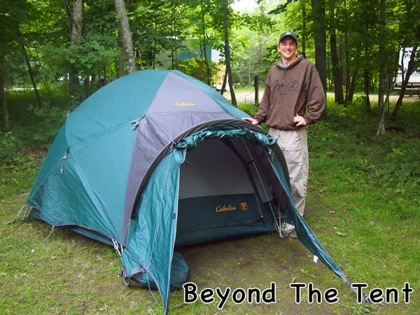 I ... & Cabelau0027s Alaskan Guide 4 Person Tent Review - Beyond The Tent