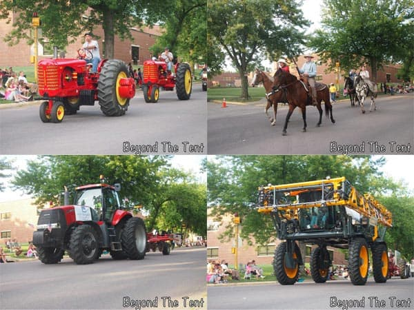 The Madelia parade had lots of tractors and horses. Madelia is actually famous for the capture of the Younger Brothers.