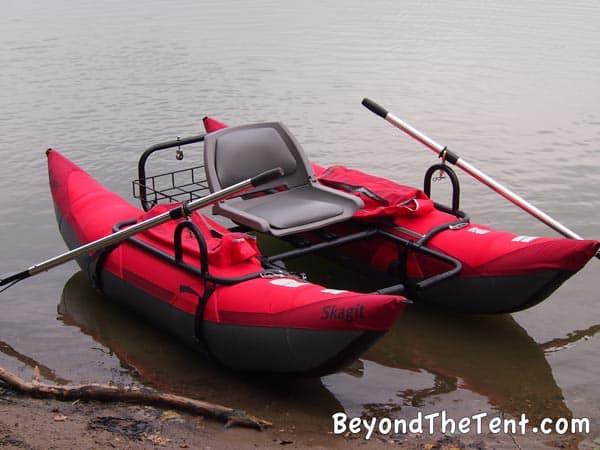 Skagit pontoon fun affordable fishing rec boat for Inflatable pontoon fishing boat