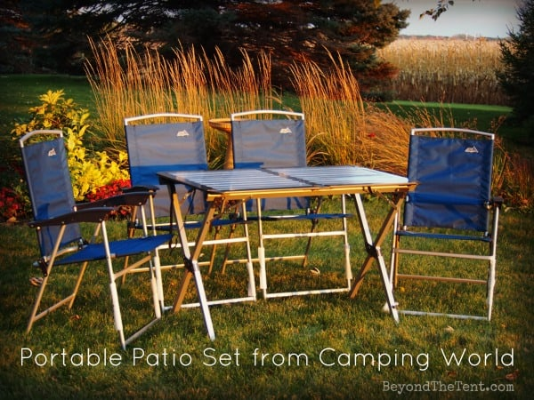 outdoor table set for camping review