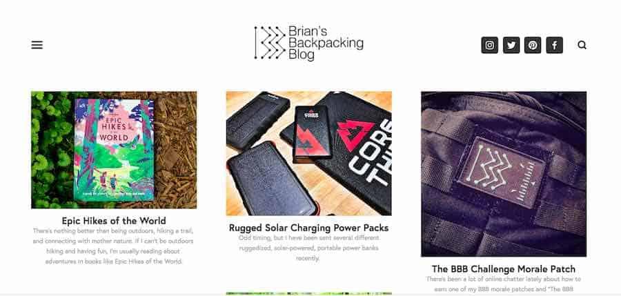 Backpacking Blog