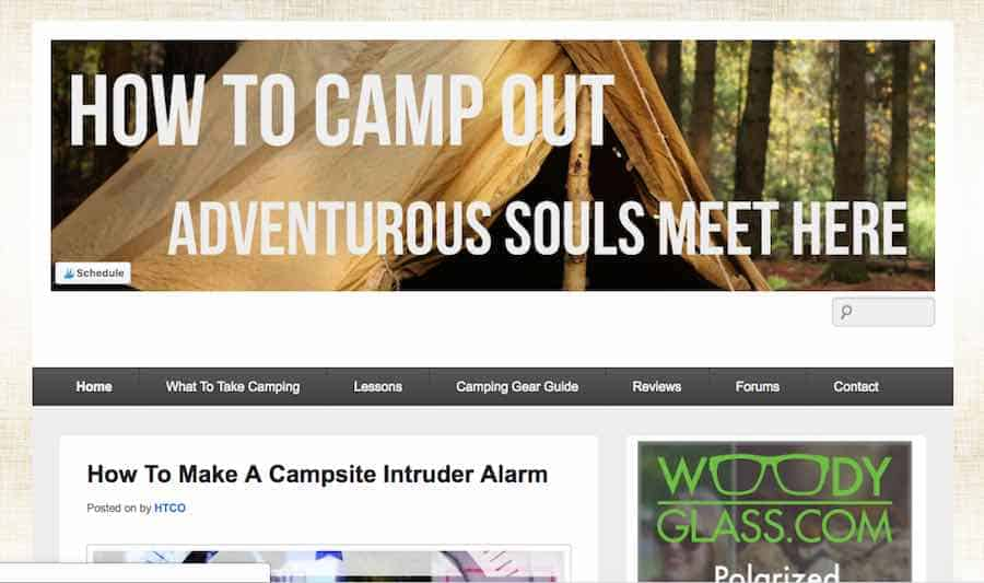 How To Camp Out Blog