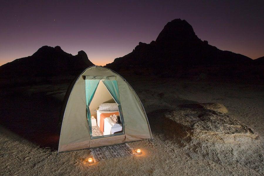 Glamping Tent At Night