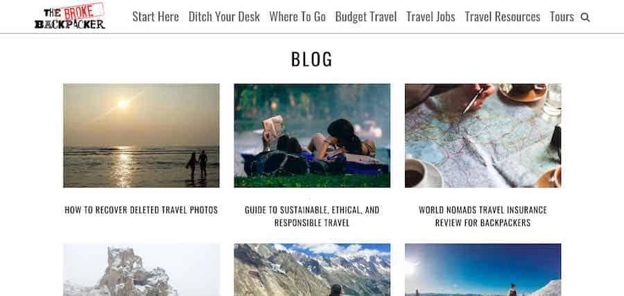 Broke Backpacker Blog