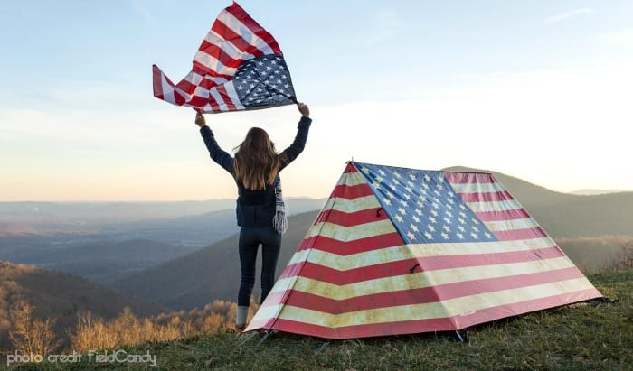 old glory usa tent design cool new camping gear products 2015 beyond the tent blog mn family