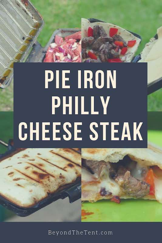 Pie Iron Philly Cheese Steak