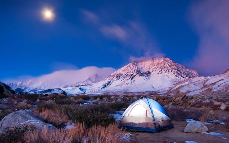 Amazing Blue Sky Camping Photo