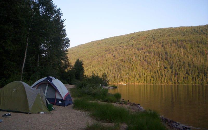 Camping on a Lake