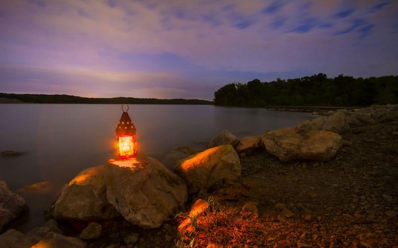 Lantern on the Rocks