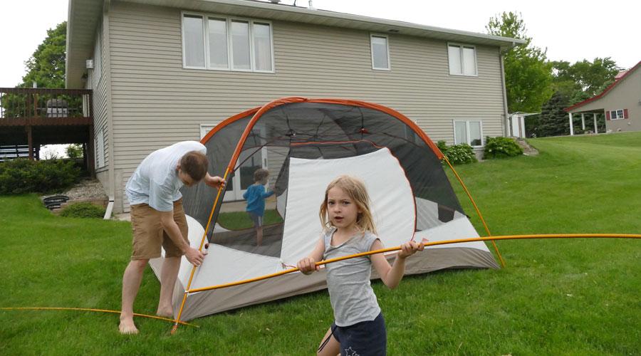 Kelty Trail Ridge 6 Family Tent Set Up