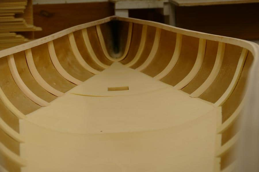 Wenonah Canoe form inserts on a new canoe.