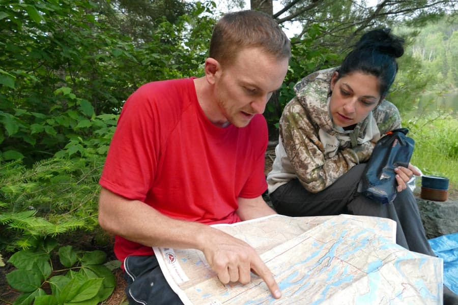 Checking Our Maps and Deciding On The Next Day's Route.