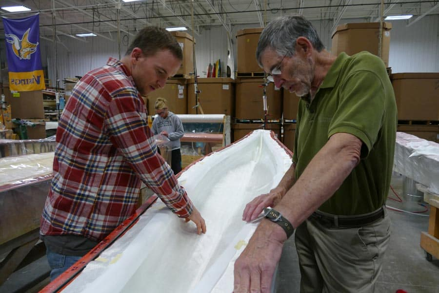 Me getting an in depth look at a kayak mold.