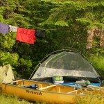 Big Agnes Tent with Wenonah Canoe