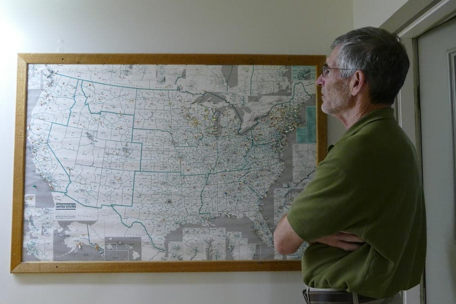 Mike Cichanowski's showing the original map of Wenonah dealers.