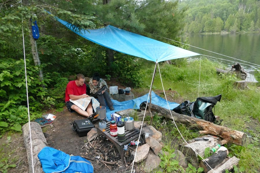 Our Campsite On Canoe Lake