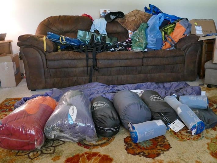 Laying out and Packing our Gear for the BWCA.