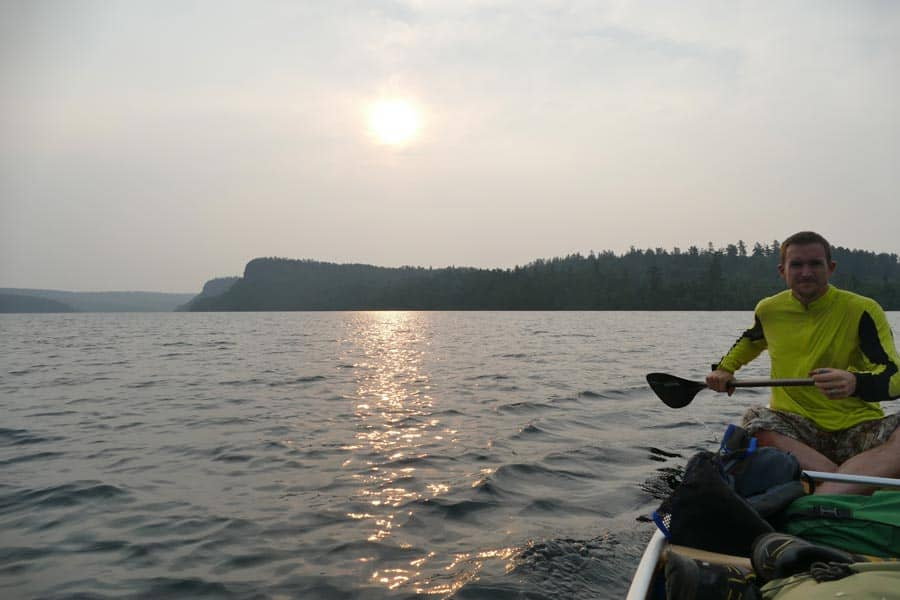 Paddling-Out-Of-The-BWCA