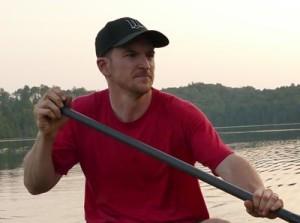 Ryan Cunningham Paddling in a Wenonah Canoe