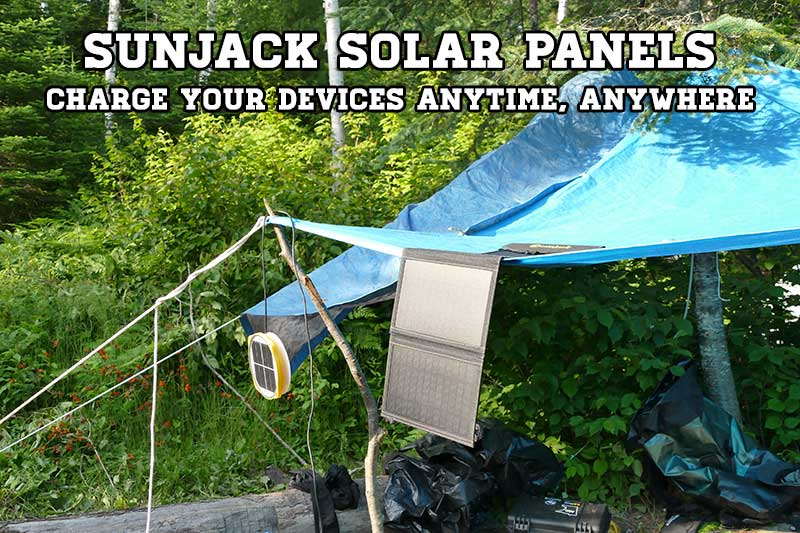 SunJack Solar Charger – Portable Solar Power For Camping, Hiking and More