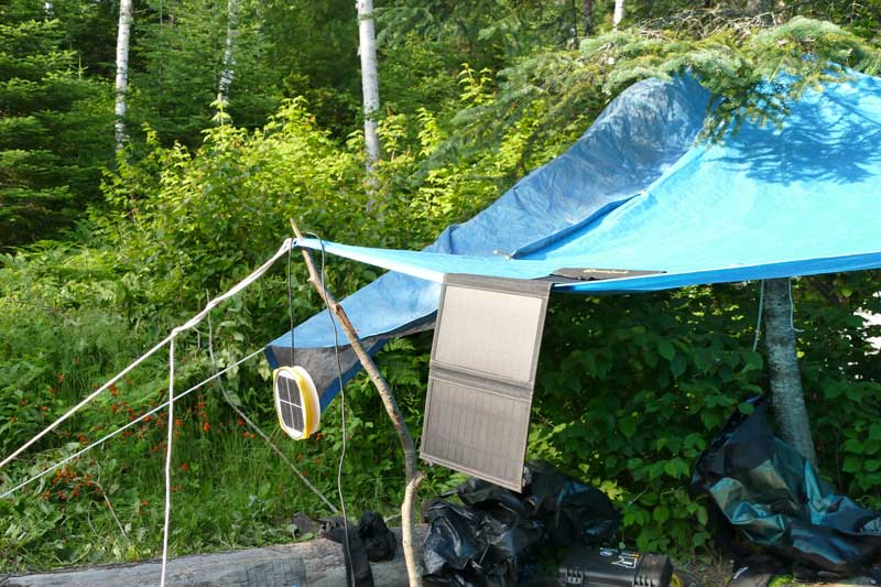 Using the Sunjack Solar Charger in the BWCA