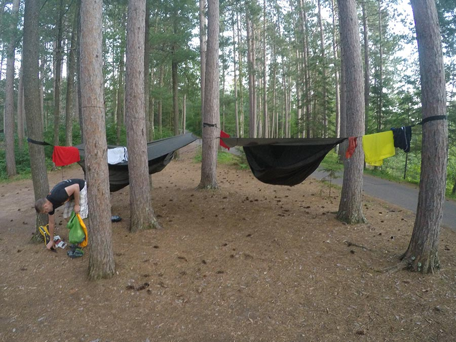 Camping with our Hennessy Hammocks