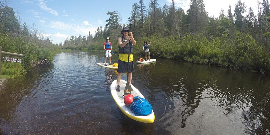 Stand UP Paddle Boarding on the Bois Brule River