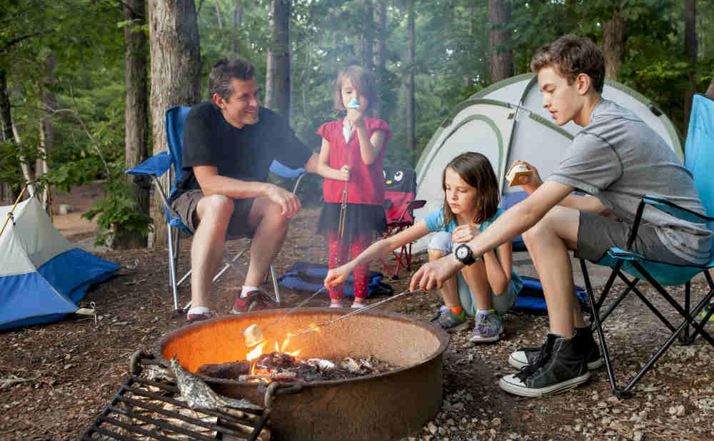 Kids Camping With Dad