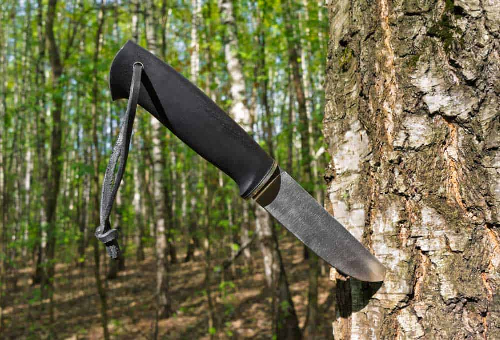 Lost in the woods trail knife