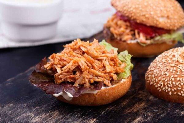 crockpot chicken BBQ sandwiches