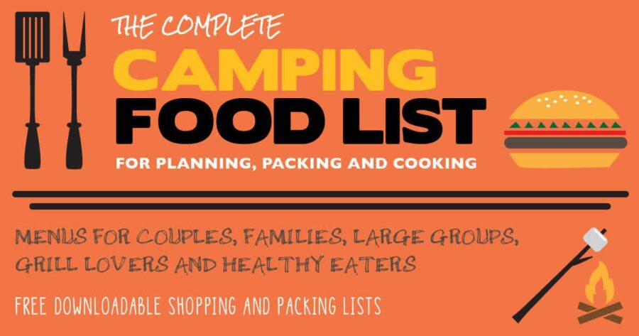 Pinterest Image for Complete Camping Food List