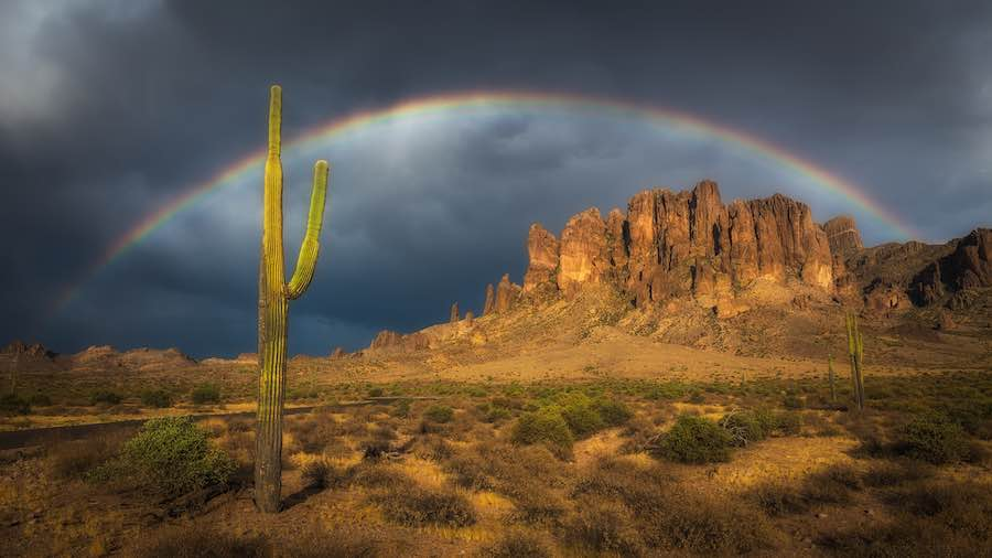 Rainbow at Lost Dutchman State Park
