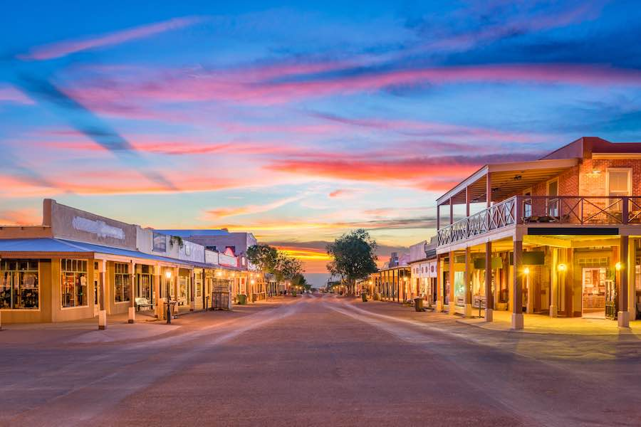 Tombstone AZ Sunset
