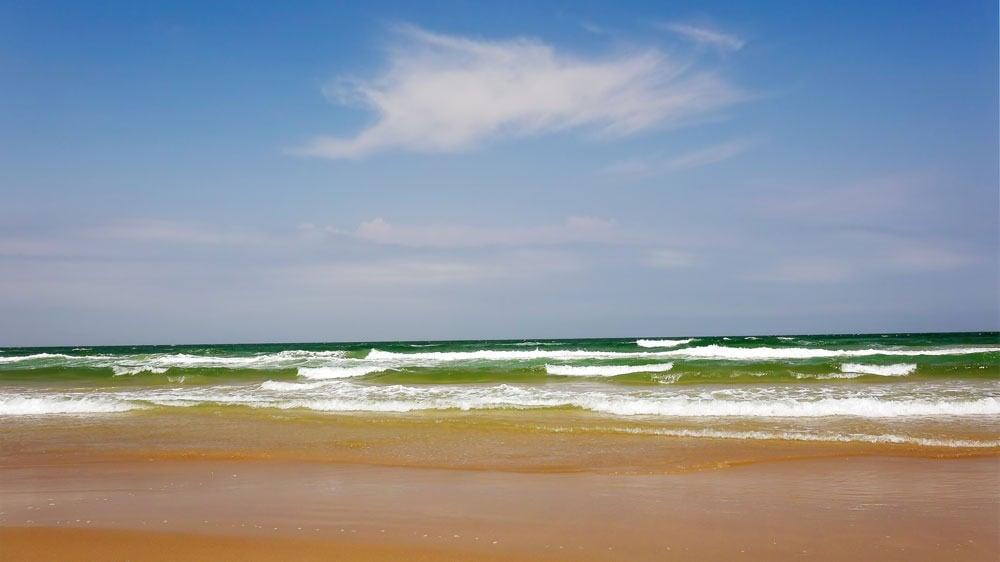 Texas beach and ocean views