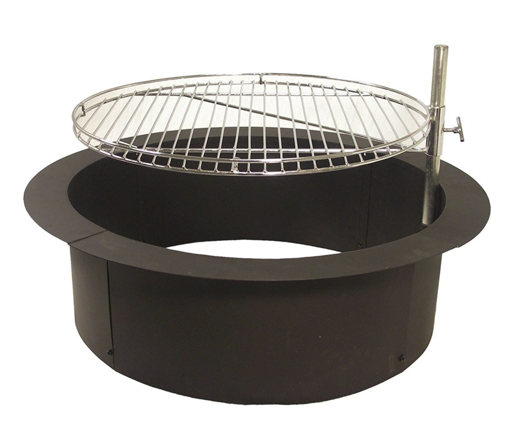 Fire Pit With Cooking Grate - Camp Cooking