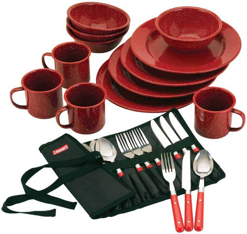 Coleman Camping Dinnerware Set - Camp Cooking
