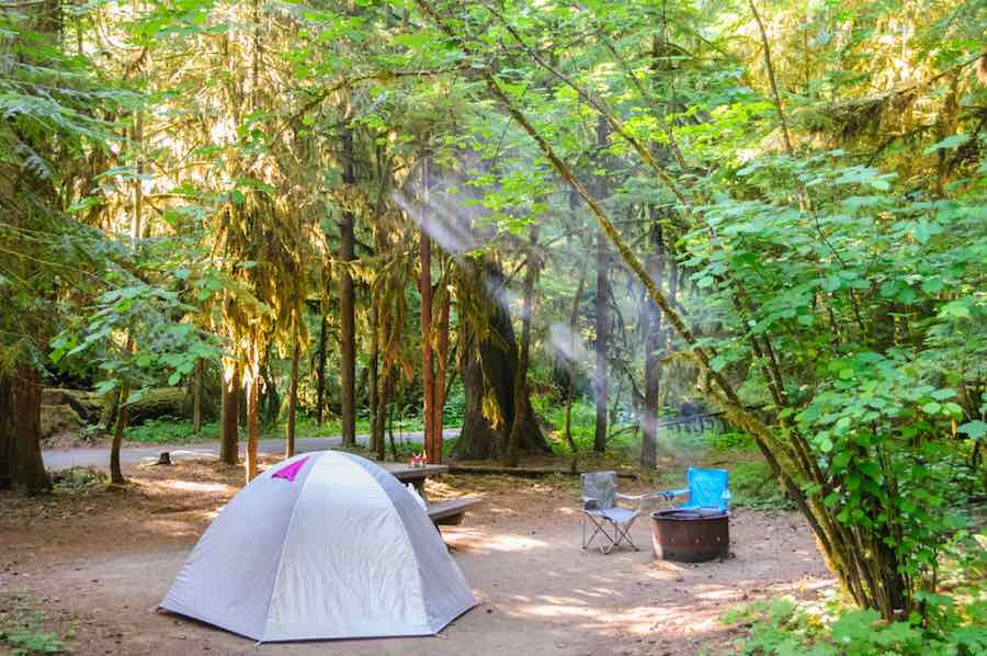 La Wis Wis Camping Near Mt. Rainier