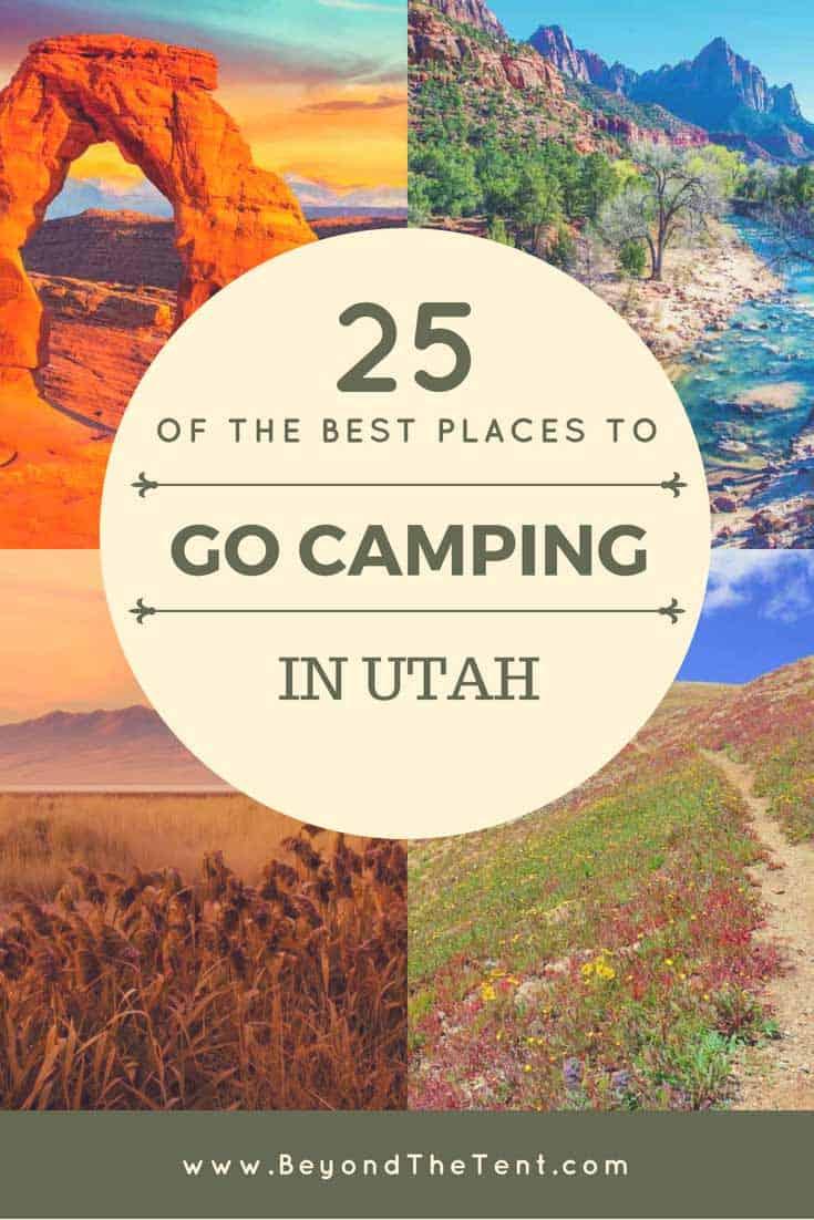 Camping in Utah Pinterest Image