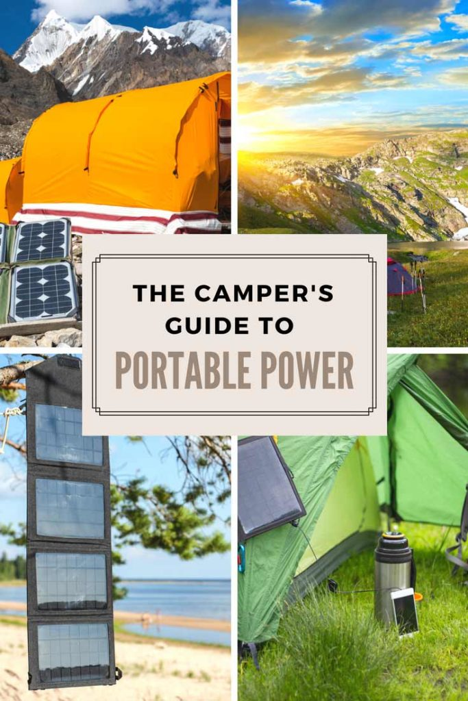 The Camper's Guide to Portable Power Pinterest image