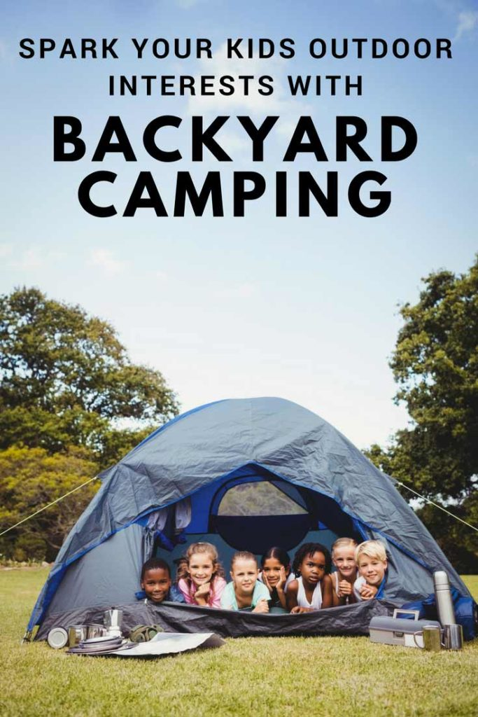 Kids in a Backyard Camping Tent