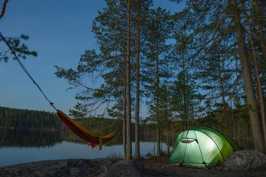 Hammock and Tent Camping