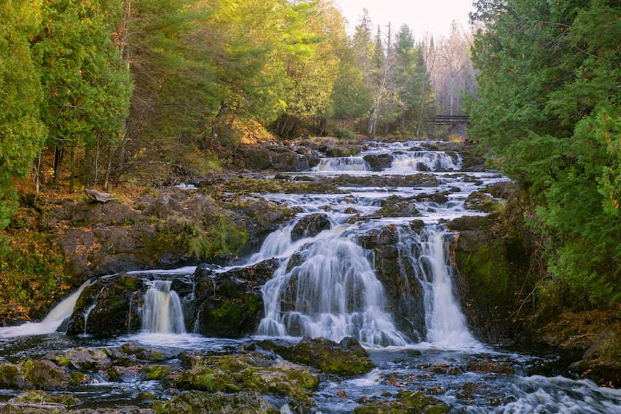 Copper Falls State Park Waterfall