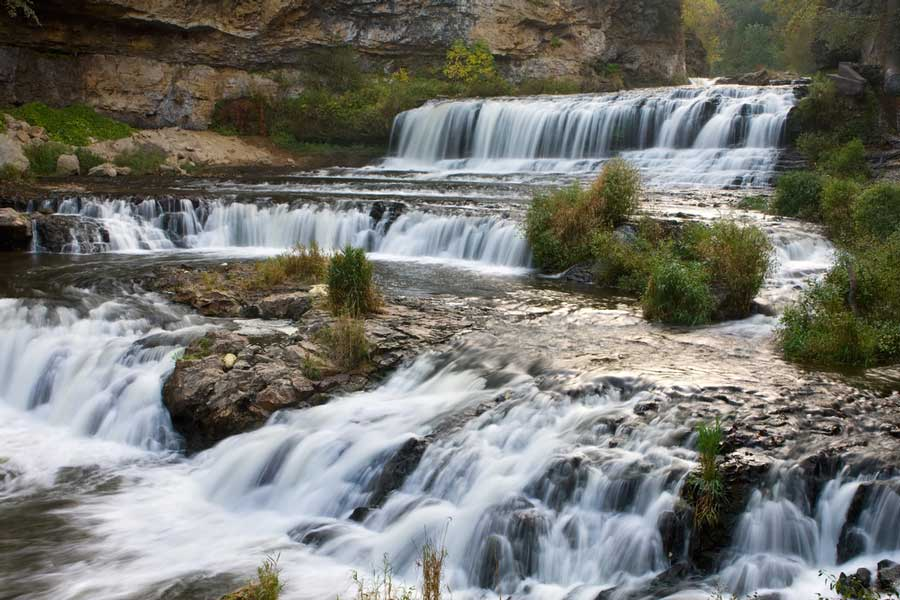 Waterfalls at Willow River State Park