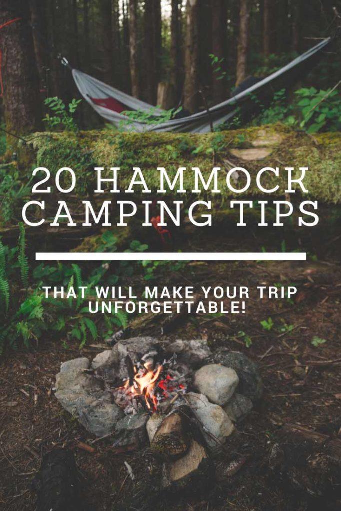 20 Hammock Camping Tips Pinterest