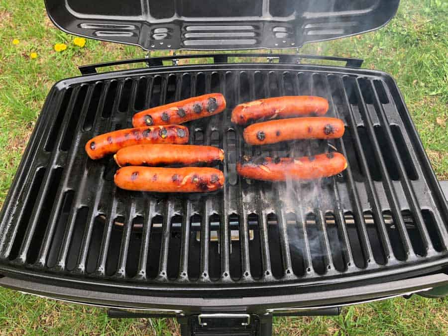 Finished brats on the grill