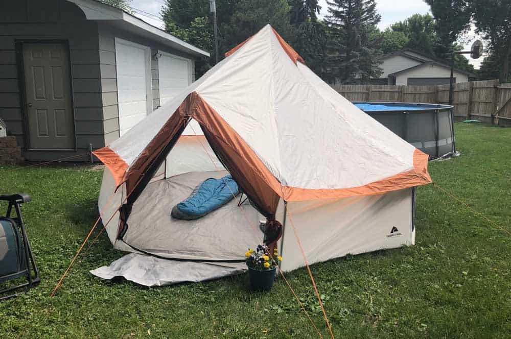 Yurt Tent in Back Yard