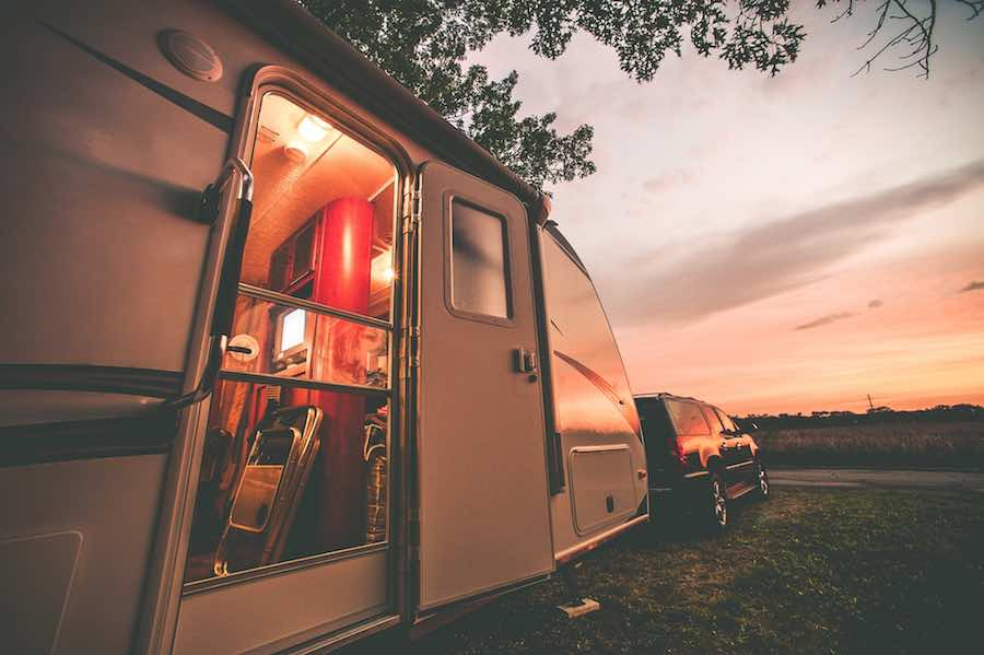 Camping in an RV Trailer
